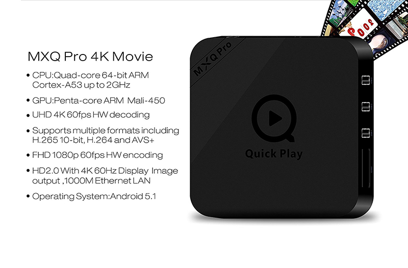 android tv box mxq pro 4k amlogic s905