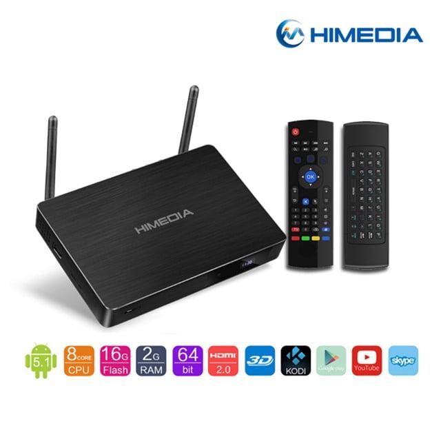 android tv box himedia h8 plus cùng chuôt bay km800