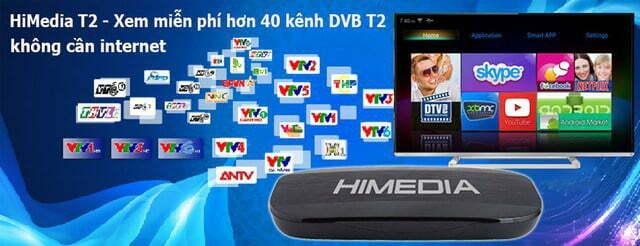Android TV Box Himedia T2 tích hợp đầu thu kỹ thuật số DVB T2