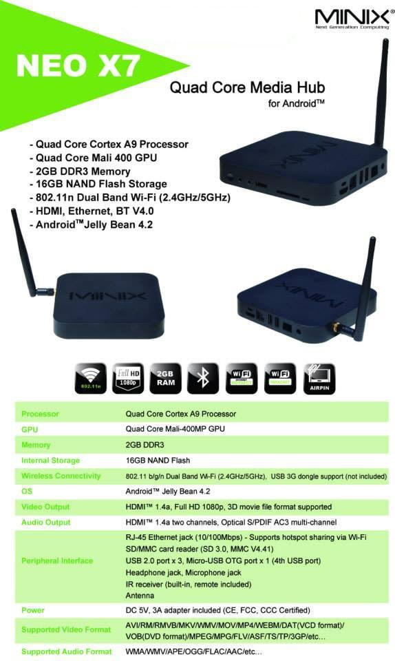 android tv box minix neo x7