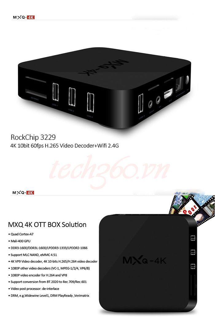 Android TV Box MXQ 4K giá rẻ chính hãngAndroid TV Box MXQ 4K giá rẻ chính hãng