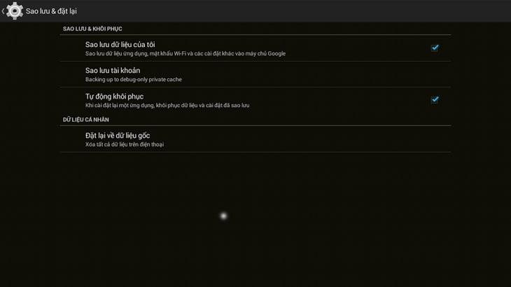Cách sao lưu dữ liệu trên Android TV Box đơn giản
