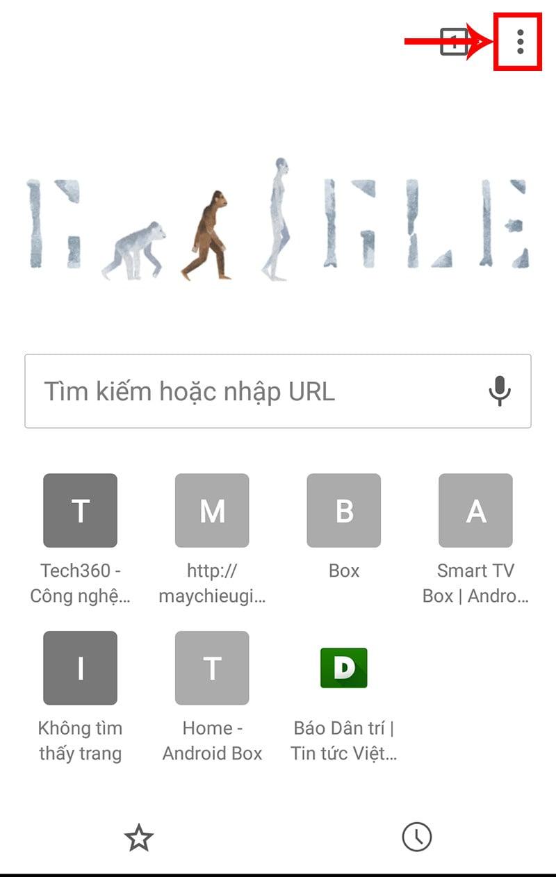 Cách xóa lịch sử của trình duyệt web Chrome trên Android TV Box