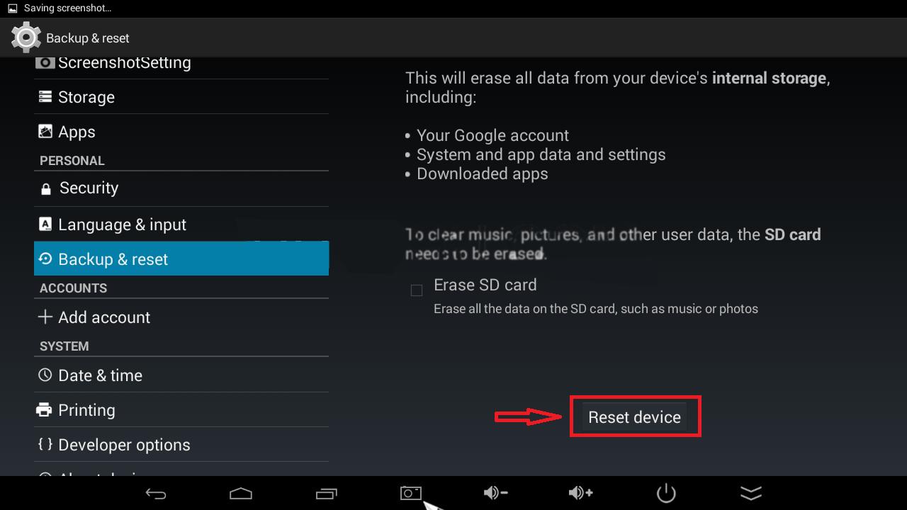 Hướng dẫn reset lại Android TV Box