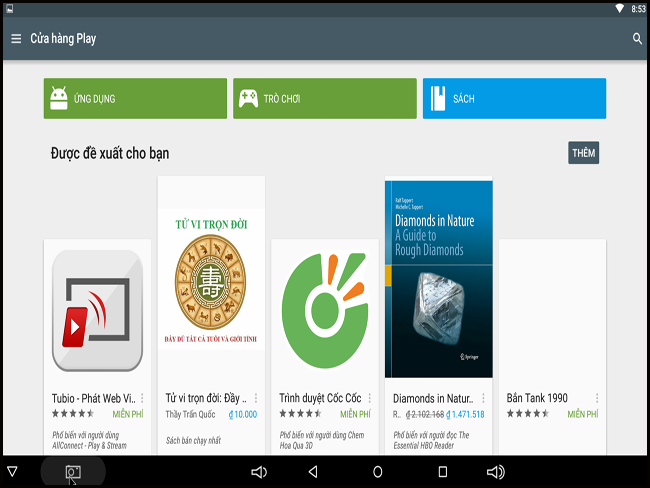 Không thể tải được ứng dụng từ CH- Play trên Android Box