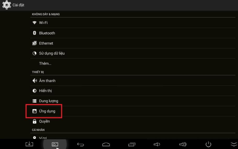 Lỗi trắng màn hình Android tv box