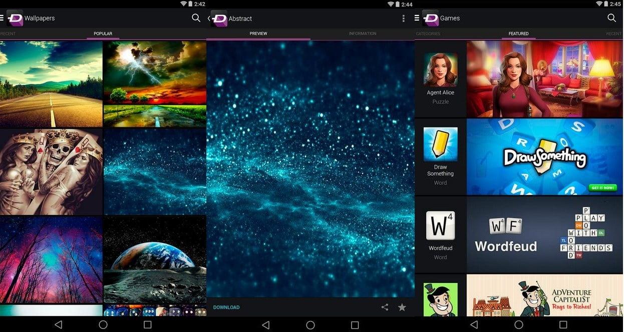 ứng dụng hình nền android tv box
