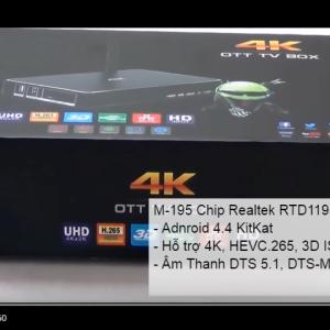 M-195 Realtek RTD1195 4K - Tech360.vn