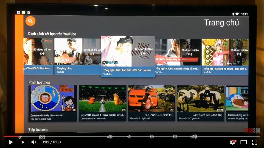 Ứng dụng Youtube full HD trên Android TV Box Sunvell T95U Pro
