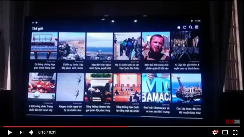 Ứng dụng đọc báo online trên Android TV Box Mini M8S Pro | Sunvell T95N