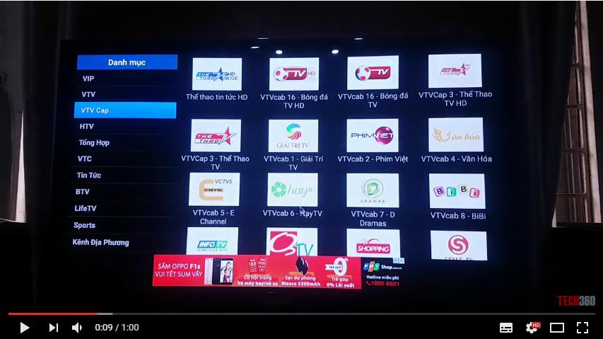 Xem truyền hình online trên Android Tv Box Mini M8S Pro | Sunvell T95N