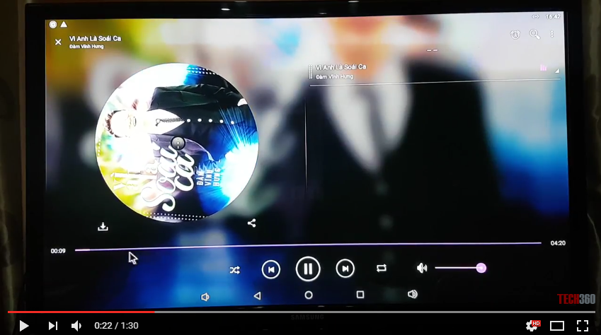 Nghe nhạc online trên Kiwibox S8 Pro | Android Tivi Box RAM 3G