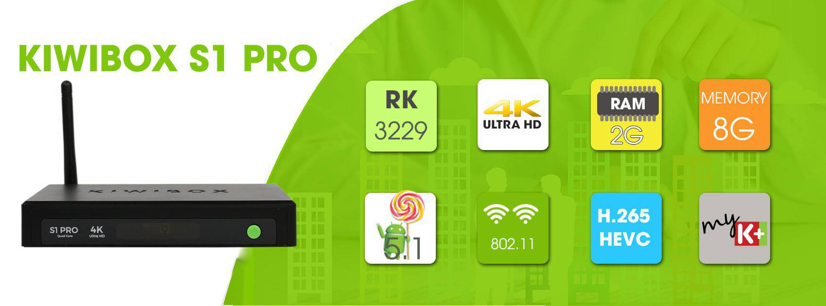 Kiwibox S1 Pro – Android 5.1, RAM 2G