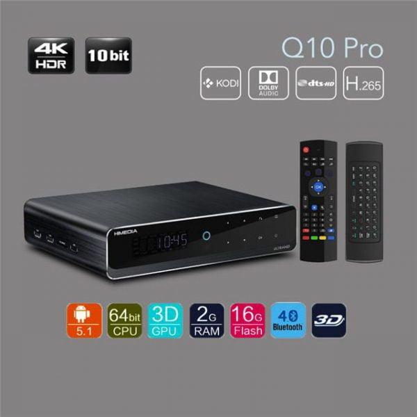 Android tv box himedia Q10 Pro và chuột bay