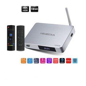 android tv box himedia q5 pro 4k cùng chuột bay km800
