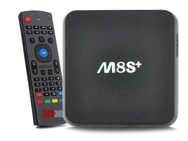 android tv box m8s plus và chuột bay km800
